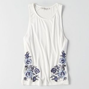 AEO embroidered tank top